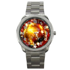 Advent Star Christmas Sport Metal Watch by Nexatart