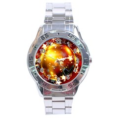 Advent Star Christmas Stainless Steel Analogue Watch by Nexatart