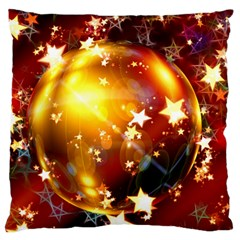 Advent Star Christmas Large Flano Cushion Case (two Sides) by Nexatart