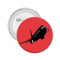 Air Plane Boeing Red Black Fly 2 25  Buttons