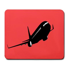 Air Plane Boeing Red Black Fly Large Mousepads