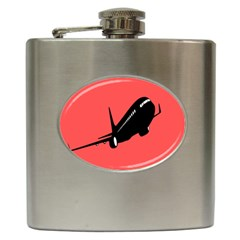 Air Plane Boeing Red Black Fly Hip Flask (6 Oz) by Alisyart