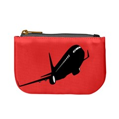 Air Plane Boeing Red Black Fly Mini Coin Purses