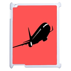 Air Plane Boeing Red Black Fly Apple Ipad 2 Case (white)