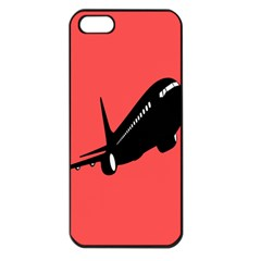 Air Plane Boeing Red Black Fly Apple Iphone 5 Seamless Case (black)