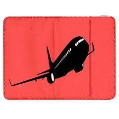 Air Plane Boeing Red Black Fly Samsung Galaxy Tab 7  P1000 Flip Case