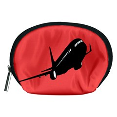 Air Plane Boeing Red Black Fly Accessory Pouches (medium)