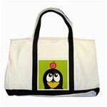 Animals Penguin Two Tone Tote Bag Front
