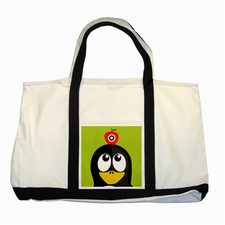 Animals Penguin Two Tone Tote Bag
