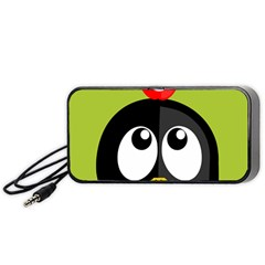 Animals Penguin Portable Speaker (black) by Alisyart