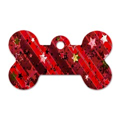 Advent Star Christmas Poinsettia Dog Tag Bone (one Side) by Nexatart