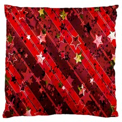 Advent Star Christmas Poinsettia Large Cushion Case (one Side) by Nexatart