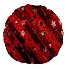 Advent Star Christmas Poinsettia Large 18  Premium Round Cushions