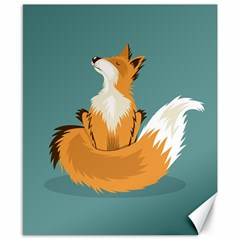 Animal Wolf Orange Fox Canvas 8  X 10