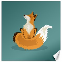 Animal Wolf Orange Fox Canvas 20  X 20