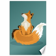 Animal Wolf Orange Fox Canvas 20  X 30   by Alisyart