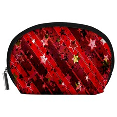 Advent Star Christmas Poinsettia Accessory Pouches (large)