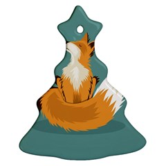 Animal Wolf Orange Fox Ornament (christmas Tree)
