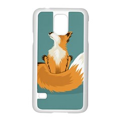 Animal Wolf Orange Fox Samsung Galaxy S5 Case (white)