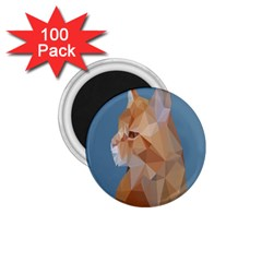 Animals Face Cat 1 75  Magnets (100 Pack)