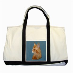 Animals Face Cat Two Tone Tote Bag