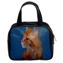 Animals Face Cat Classic Handbags (2 Sides) by Alisyart
