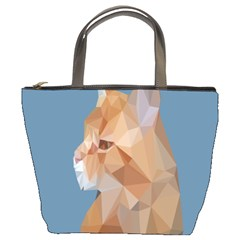 Animals Face Cat Bucket Bags by Alisyart