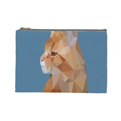Animals Face Cat Cosmetic Bag (large)