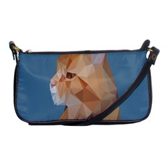 Animals Face Cat Shoulder Clutch Bags by Alisyart