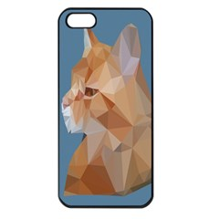 Animals Face Cat Apple Iphone 5 Seamless Case (black)
