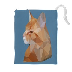 Animals Face Cat Drawstring Pouches (extra Large)