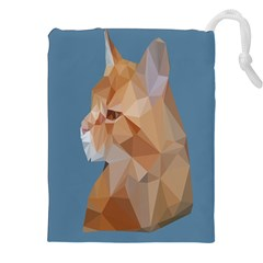 Animals Face Cat Drawstring Pouches (xxl) by Alisyart