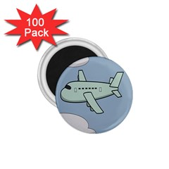 Airplane Fly Cloud Blue Sky Plane Jpeg 1 75  Magnets (100 Pack)  by Alisyart