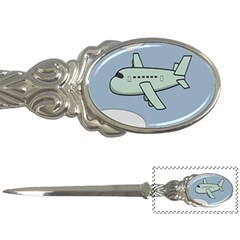 Airplane Fly Cloud Blue Sky Plane Jpeg Letter Openers