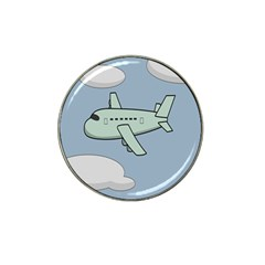 Airplane Fly Cloud Blue Sky Plane Jpeg Hat Clip Ball Marker (10 Pack) by Alisyart