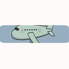 Airplane Fly Cloud Blue Sky Plane Jpeg Large Bar Mats by Alisyart