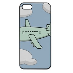 Airplane Fly Cloud Blue Sky Plane Jpeg Apple Iphone 5 Seamless Case (black)