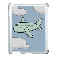 Airplane Fly Cloud Blue Sky Plane Jpeg Apple Ipad 3/4 Case (white)