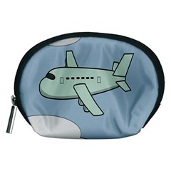 Airplane Fly Cloud Blue Sky Plane Jpeg Accessory Pouches (medium)