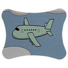 Airplane Fly Cloud Blue Sky Plane Jpeg Jigsaw Puzzle Photo Stand (bow) by Alisyart