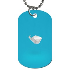 Animals Whale Blue Origami Water Sea Beach Dog Tag (one Side)