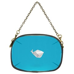 Animals Whale Blue Origami Water Sea Beach Chain Purses (two Sides)