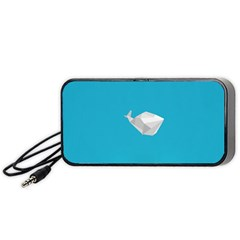 Animals Whale Blue Origami Water Sea Beach Portable Speaker (black)