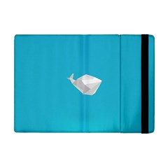 Animals Whale Blue Origami Water Sea Beach Apple Ipad Mini Flip Case by Alisyart