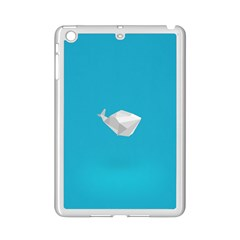 Animals Whale Blue Origami Water Sea Beach Ipad Mini 2 Enamel Coated Cases