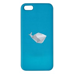 Animals Whale Blue Origami Water Sea Beach Apple Iphone 5 Premium Hardshell Case