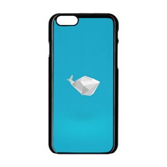 Animals Whale Blue Origami Water Sea Beach Apple Iphone 6/6s Black Enamel Case