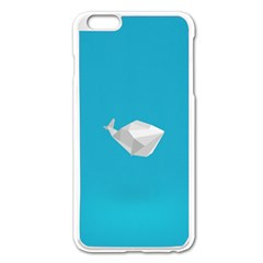 Animals Whale Blue Origami Water Sea Beach Apple Iphone 6 Plus/6s Plus Enamel White Case