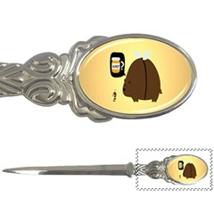 Bear Meet Bee Honey Animals Yellow Brown Letter Openers by Alisyart
