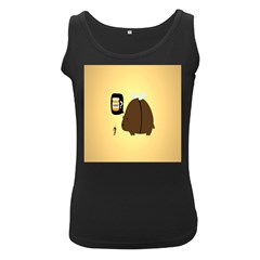 Bear Meet Bee Honey Animals Yellow Brown Women s Black Tank Top